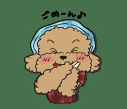 Waffle of poodle sticker #355641