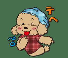 Waffle of poodle sticker #355643