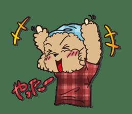 Waffle of poodle sticker #355653