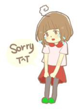 Apple-chan and friends sticker #356827