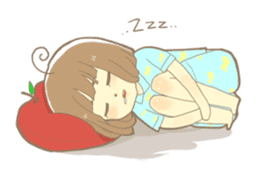 Apple-chan and friends sticker #356832
