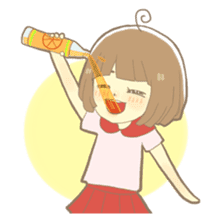 Apple-chan and friends sticker #356833