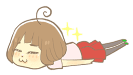 Apple-chan and friends sticker #356845