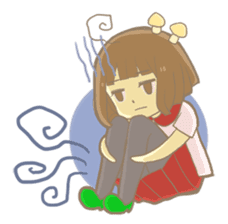 Apple-chan and friends sticker #356847