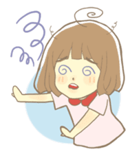 Apple-chan and friends sticker #356852