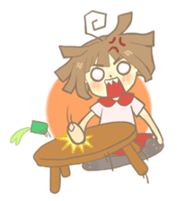 Apple-chan and friends sticker #356853
