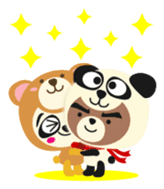 Pan of the panda and Bei of the bear sticker #356883