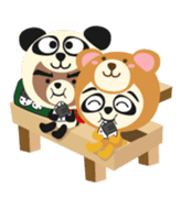 Pan of the panda and Bei of the bear sticker #356887