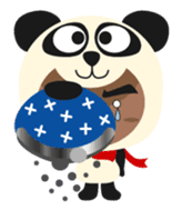 Pan of the panda and Bei of the bear sticker #356898