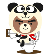 Pan of the panda and Bei of the bear sticker #356902