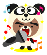 Pan of the panda and Bei of the bear sticker #356904