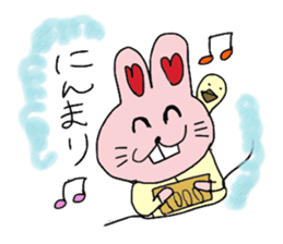 momoiro rabbit sticker #357351