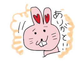 momoiro rabbit sticker #357360