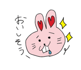 momoiro rabbit sticker #357361