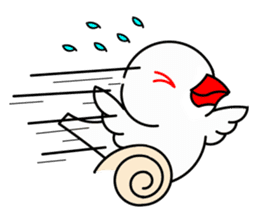 Love Bird Java sparrow sticker #357549