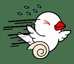 Love Bird Java sparrow sticker #357549