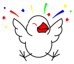 Love Bird Java sparrow sticker #357565