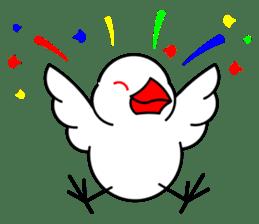 Love Bird Java sparrow sticker #357565