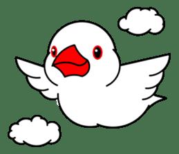 Love Bird Java sparrow sticker #357568