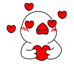 Love Bird Java sparrow sticker #357575