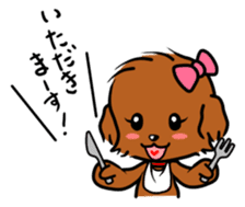 Alice The Teddy Poodle sticker #359200