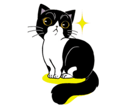 Panda-cat Mink(English version) sticker #360423