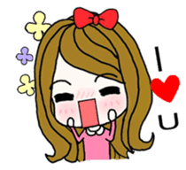 Present girl's life diary sticker #360595