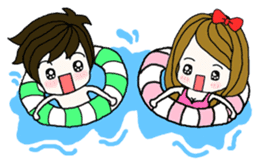 Present girl's life diary sticker #360608