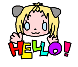 kemomimi girl sticker #362185