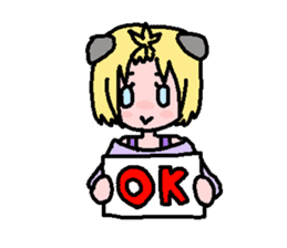 kemomimi girl sticker #362186