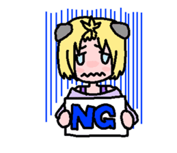 kemomimi girl sticker #362187