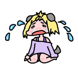 kemomimi girl sticker #362192