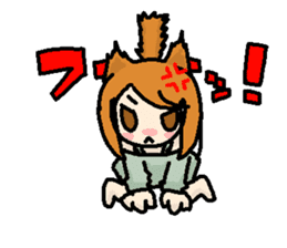 kemomimi girl sticker #362208