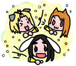 kemomimi girl sticker #362222