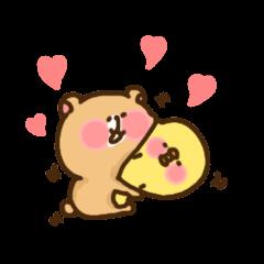 bear and rabbit sometimes Chicksbear