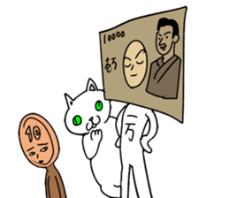 trouble cat and mr10000yen sticker #366232