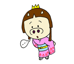 Pig Princess sticker #366667