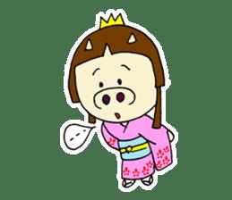 Pig Princess sticker #366667