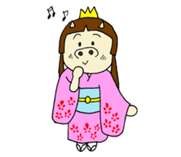 Pig Princess sticker #366668