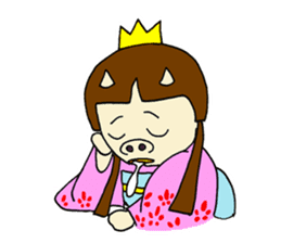 Pig Princess sticker #366672