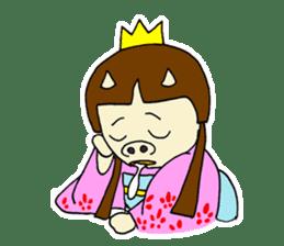 Pig Princess sticker #366672