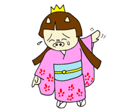 Pig Princess sticker #366674