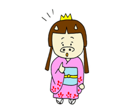 Pig Princess sticker #366677