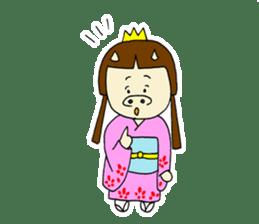 Pig Princess sticker #366677