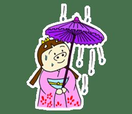 Pig Princess sticker #366679