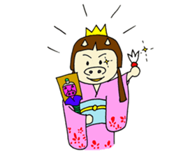 Pig Princess sticker #366683