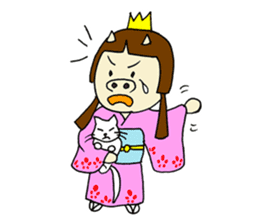 Pig Princess sticker #366685