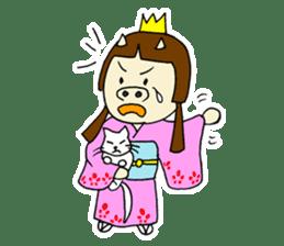 Pig Princess sticker #366685
