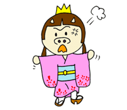 Pig Princess sticker #366687