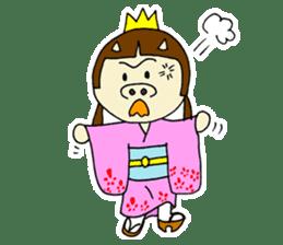 Pig Princess sticker #366687